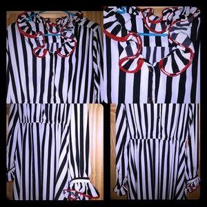 Red Zebra Formal dress